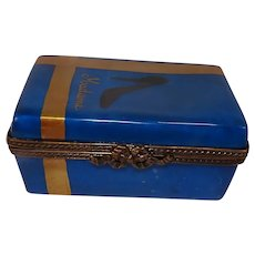 Limoges Hand Painted Gift Shoe Box Porcelain Pill Box