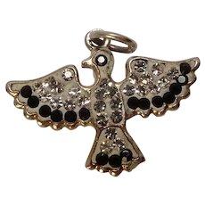 Sterling Crystal Thunderbird Charm