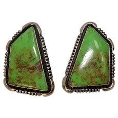 Sterling Gaspeite Native American Earrings