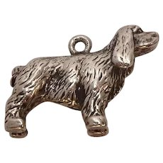 Vintage Sterling Spaniel Dog Charm