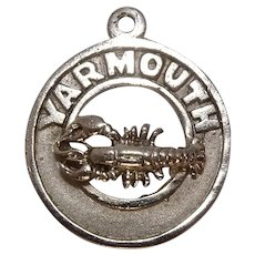 Vintage Yarmouth Maine Lobster Sterling Charm