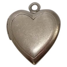 Sterling Heart Locket Charm