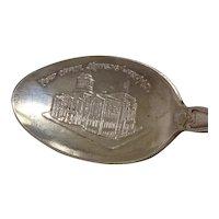 Post Office Kansas City Missouri Sterling Souvenir Spoon