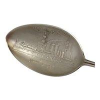 New York Ship Sterling Souvenir Spoon