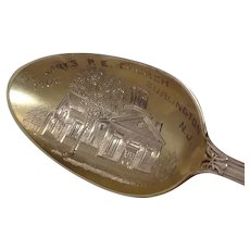 1702 St Marys Episcopal Church Burlington New Jersey Sterling Souvenir Spoon