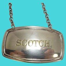 Silver Plate Scotch Decanter Label