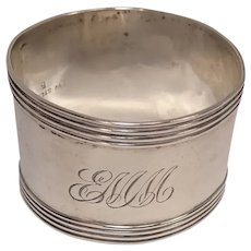 Watrous Mfg. Sterling Banded Napkin Ring