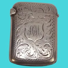 Antique 1903 Joseph Gloster Sterling Match Safe