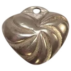 Sterling Small Puffy Heart Charm