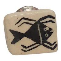 Native American Ceramic Tie Tac