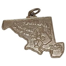 Maryland State Sterling Charm by Bell Trading