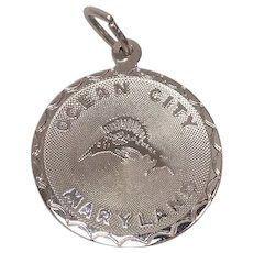 Ocean City Maryland Sterling Charm