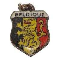 Belgium Belgique Enameled Shield Travel Charm