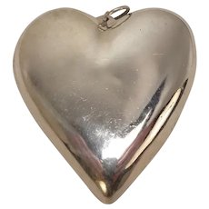 Sterling Heart Shaped Pendant Tray