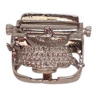 Sterling Typewriter Charm