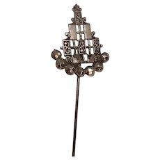 Interesting Antique Marcasite Stick or Lapel Pin