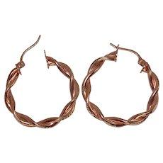Sterling Twist Earrings
