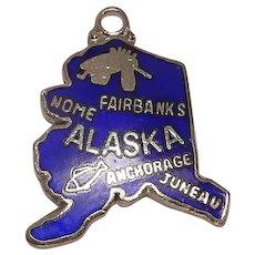 Alaska State Enameled Charm