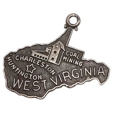 West Virginia Sterling State Charm