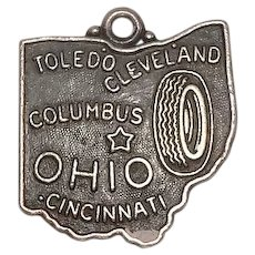 Ohio State Sterling Charm