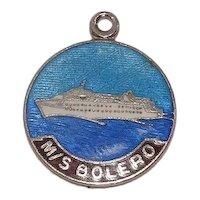 MS Bolero Cruise Ship Festival Cruise Line Sterling Enameled Charm
