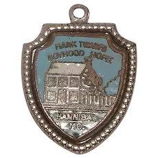 Mark Twain Boyhood Home Hannibal Missouri Travel Shield Enameled Sterling Charm