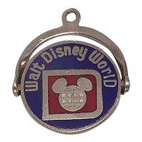 Official Walt Disney World Enameled Sterling Spinner Charm
