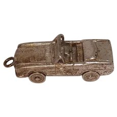 Signed Mechanical Sterling Convertible Car Charm by Wells