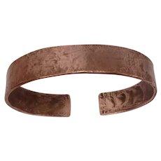 Hand Wrought Copper Cuff Bracelet