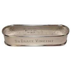 International Sterling Napkin ring monogrammed Sr. Grace Vincent