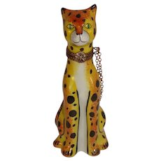 Limoges Cheetah Porcelain Pill Box