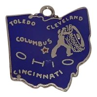 Sterling Enameled Ohio State Charm