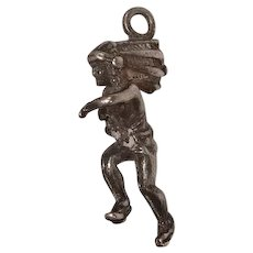 Running Indian Chief Sterling Charm