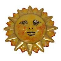 Limoges Hand Painted Sun Porcelain Pill Box