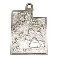 Signed Wells Utah Sterling State Charm