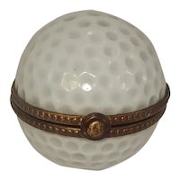 Limoges Golf Ball Porcelain Pill Box