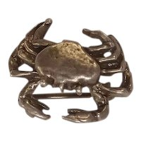 Sterling Crab Pin or Brooch