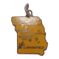 Missouri Enameled Show Me State Sterling Charm