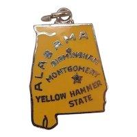 Alabama Enameled Sterling State Charm
