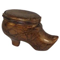 Limoges Shoe Form Porcelain Pill Box