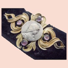 Art Nouveau Silver gilt Belt Buckle Andreas Odenwald