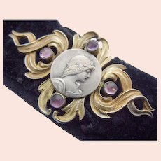 Art Nouveau Silver gilt Belt Buckle Andreas Odenwald