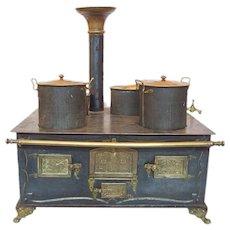 German children Toy Stove by Marklin 1910 Oven Tin Toys dolls kitchen cook stove