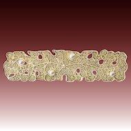 Vintage German Theodor Fahrner 925 Sterling Silver gilt Art Deco Pin Brooch 30s signed