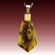 Art Deco c 1930 WMF Ikora pendant coloured glass Jewelry with chain
