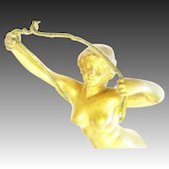 Bell Push Ringer Naked Lady Figure Erotica rare