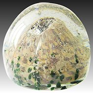 Paperweight Jack Loranger 2011 Glass signed mountain rock