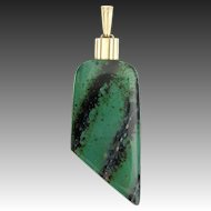 Art Deco Pendant WMF Ikora Glass Jewellery green marbled veined