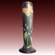 Ferdinand von Poschinger iridescent Glass Vase art nouveau style c. 1970s
