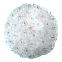 Murano half-shell Floral Glass Ceiling Lamp by Barovier e Toso 50s Flower